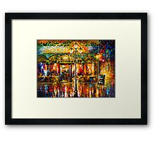 Misty Cafe - Leonid Afremov Framed Print