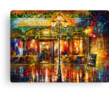 Misty Cafe - Leonid Afremov Canvas Print