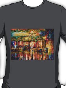 Misty Cafe - Leonid Afremov T-Shirt