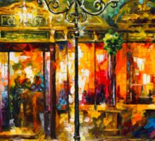 Misty Cafe - Leonid Afremov Sticker