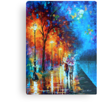 Love by The Lake - Leonid Afremov Metal Print