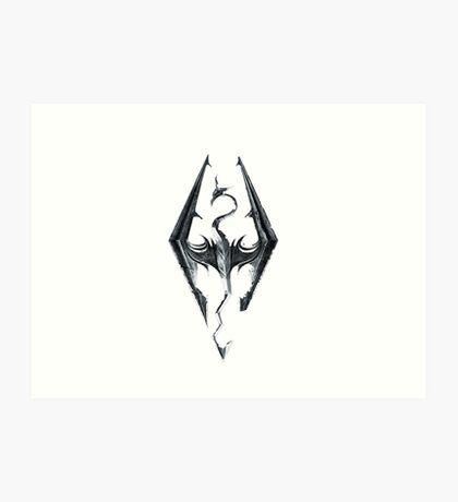 Skyrim V Elder Scrolls Art Print