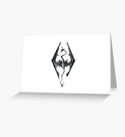 Skyrim V Elder Scrolls Greeting Card