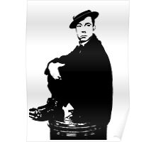 Buster Keaton Sits On The Can Poster