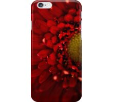 Red Macro Daisy Flower iPhone Case/Skin