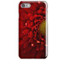 Red Macro Daisy Flower iPhone Case/Skin