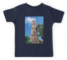 Clock tower, Halki island Kids Tee
