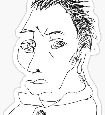 Self-portrait without beard-Van Gogh Sticker