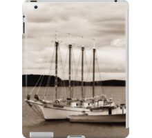 Boat in Sepia iPad Case/Skin