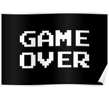 Game Over - Classic Retro Video Game Art Poster