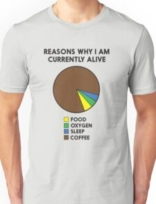 Reasons why I am alive pie chart (coffee) Unisex T-Shirt