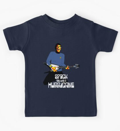 Spock You (White Font) Kids Tee