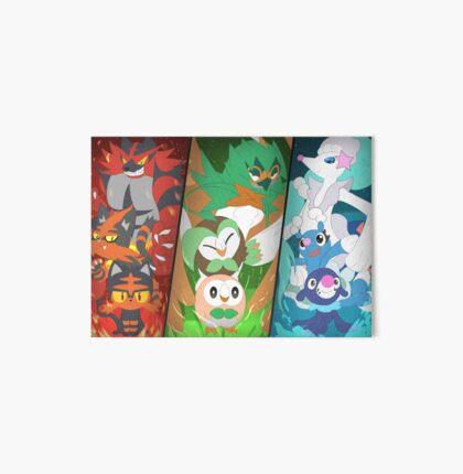 New Pokémon starters Art Board