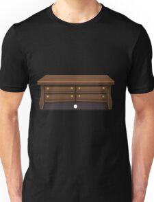 Glitch bag furniture smallcabinet dark wood small cabinet Unisex T-Shirt