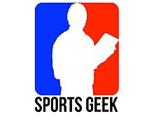 Sports Geek Logo - Jerry West style Photographic Print