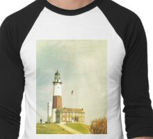 Montauk Lighthouse Men's Baseball ¾ T-Shirt