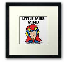 Little Miss Mind Framed Print