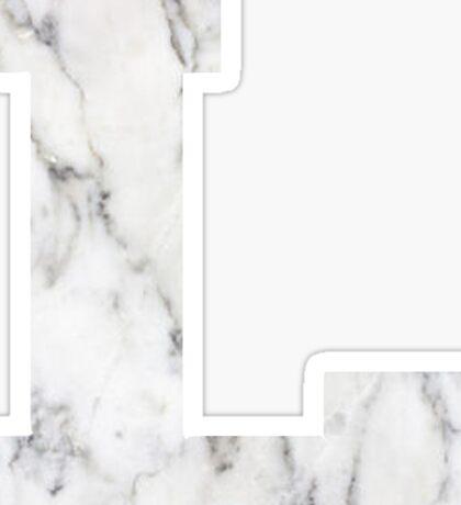 """""""L"""" marble sticker Sticker"""
