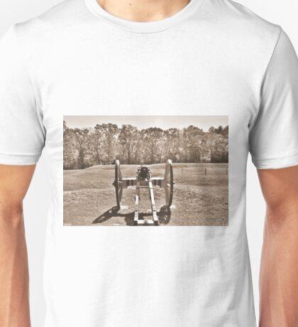 Ninety Six National Historic Site Cannon Sepia Unisex T-Shirt