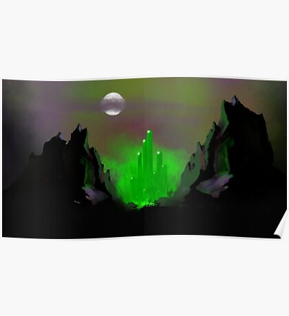 Emerald City Skyline 1 Poster
