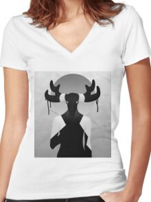 lady d 3 Women's Fitted V-Neck T-Shirt