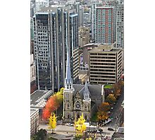 Downtown Skyscrapers and Cathedral from Harbour Tower, Vancouver City, Canada Photographic Print