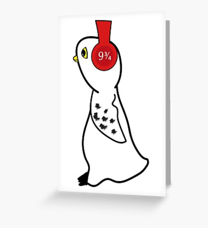 White Owl with Headphones Greeting Card