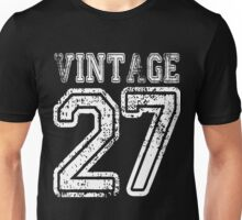 Vintage 27 2027 1927 T-shirt Birthday Gift Age Year Old Boy Girl Cute Funny Man Woman Jersey Style Unisex T-Shirt