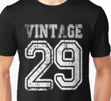 Vintage 29 2029 1929 T-shirt Birthday Gift Age Year Old Boy Girl Cute Funny Man Woman Jersey Style Unisex T-Shirt