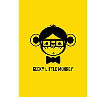 Geeky Little monkey Logo Photographic Print