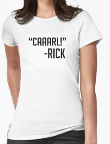 CAAARL The Walking Dead Womens Fitted T-Shirt
