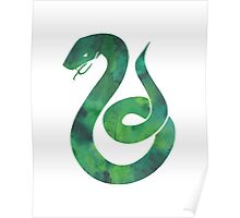 House Snake Watercolor Poster
