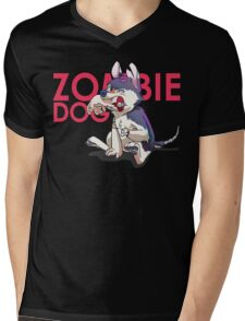 Zombie Dog Mens V-Neck T-Shirt