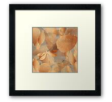 Copper Forest, leaves and dragonfly, nature and garden art Framed Print