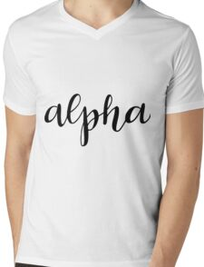 alpha Mens V-Neck T-Shirt