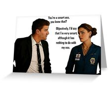 Booth and Brennan - Smart Ass Greeting Card