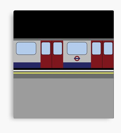London Tube Train Canvas Print