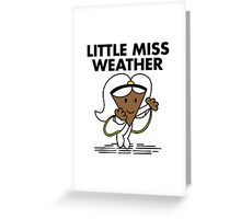 Little Miss Weather Greeting Card