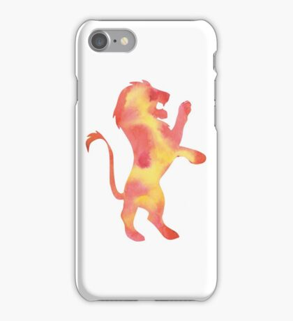 House Lion Watercolor iPhone Case/Skin
