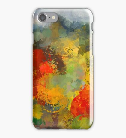Abstract colourful landscape iPhone Case/Skin