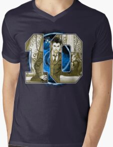Number 10 Mens V-Neck T-Shirt