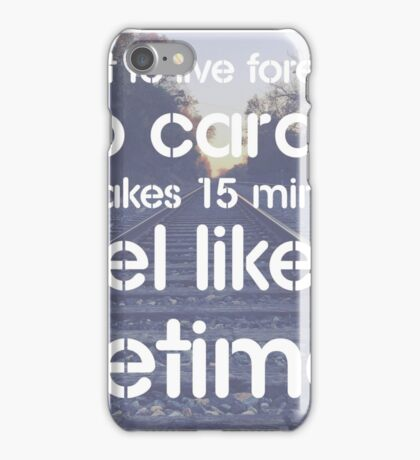 Want to live forever? Do cardio. - Fitness Humor Joke Message Print iPhone Case/Skin