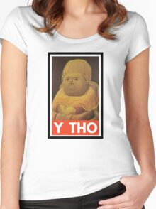 Y THO - MEME (OBEY) Women's Fitted Scoop T-Shirt