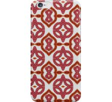 Red Roses and Yarn Decorative Grid iPhone Case/Skin