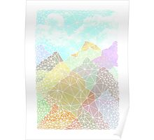 Multicolour Magic Mountains Poster