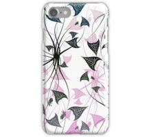 Abstract, Funky Pink and Black iPhone Case/Skin