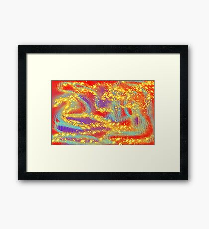 Draco Stars Framed Print