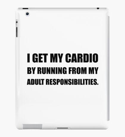 Cardio Running From Responsibilities iPad Case/Skin