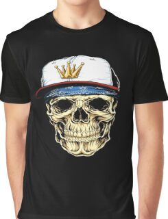 Rap King Skull Graphic T-Shirt
