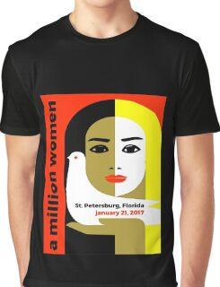 Women's March St. Petersburg Florida Jan 21 2017 Graphic T-Shirt